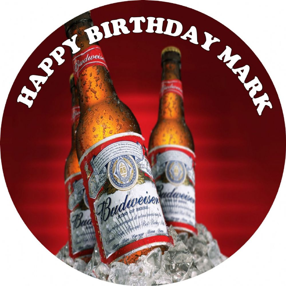 Edible Image Toppers Reviews : Budweiser Edible Cake Topper
