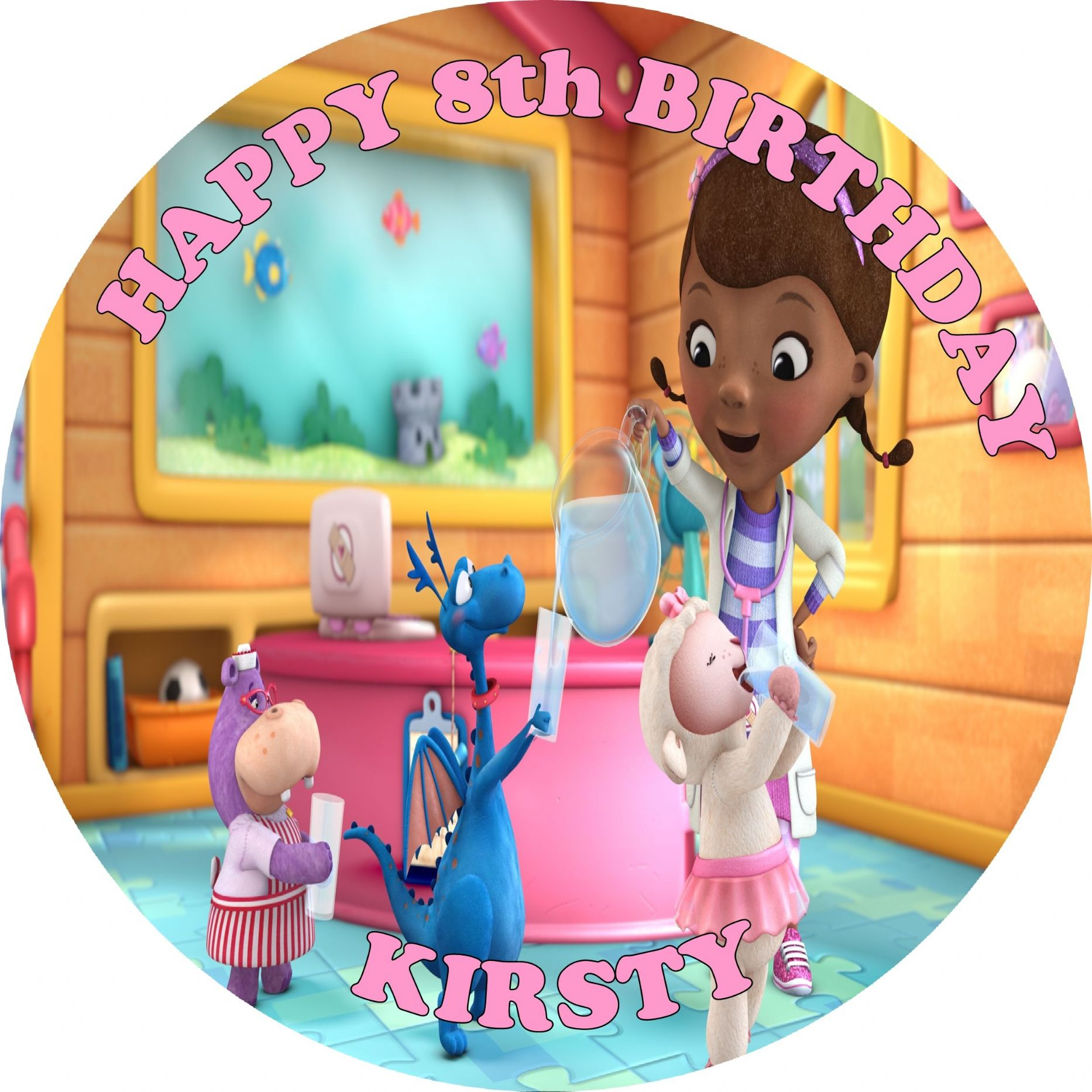 Doc Mcstuffins Edible Cake Topper Uk