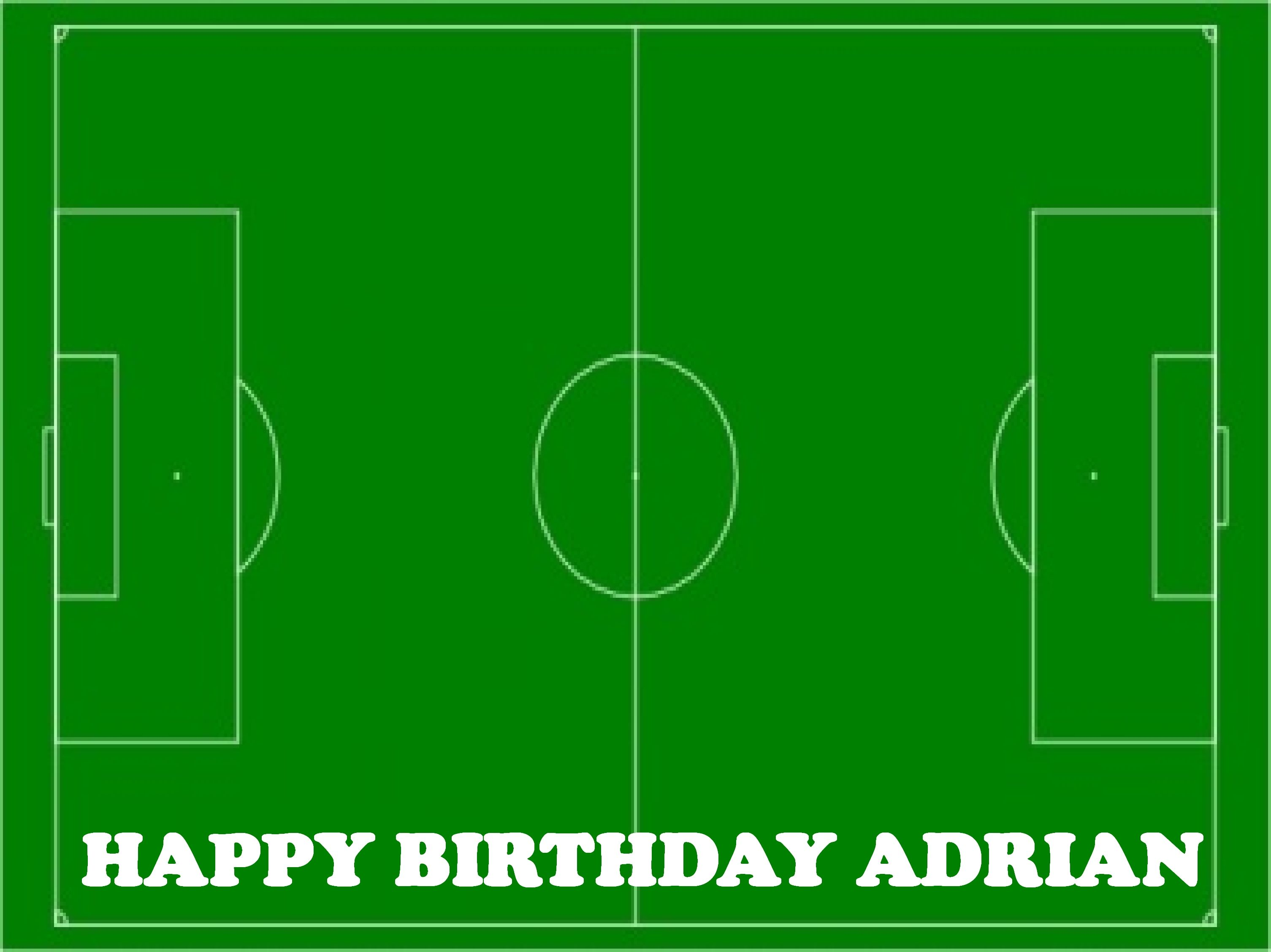 Football Pitch Cake Topper Football Pitch Edible Cake