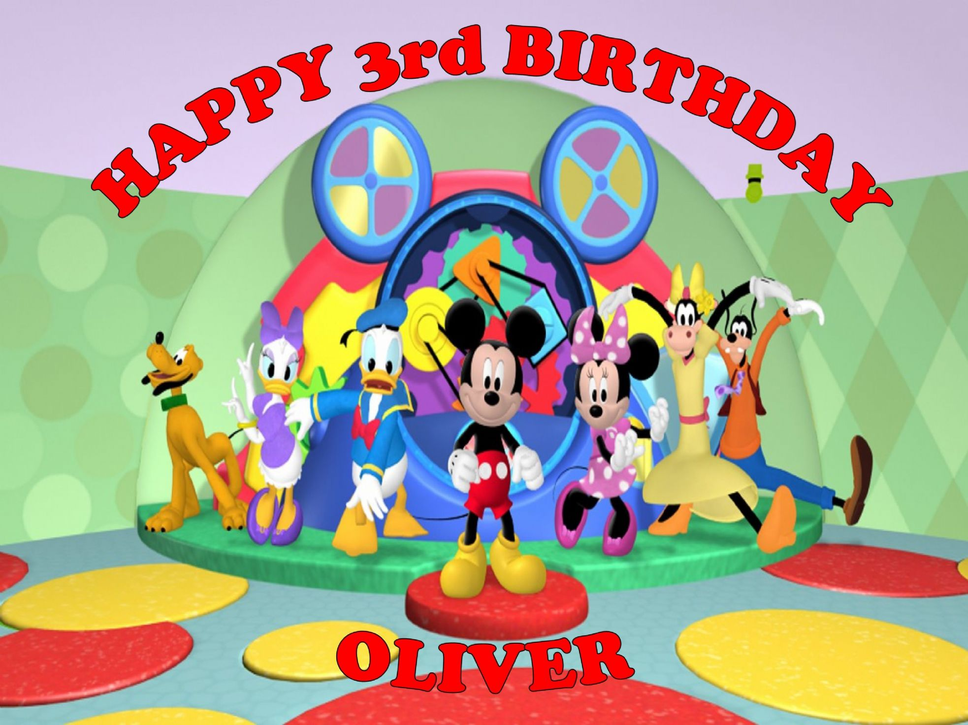 Mickey Mouse Clubhouse Edible Cake Images : Mickey Mouse Clubhouse Edible Cake Topper