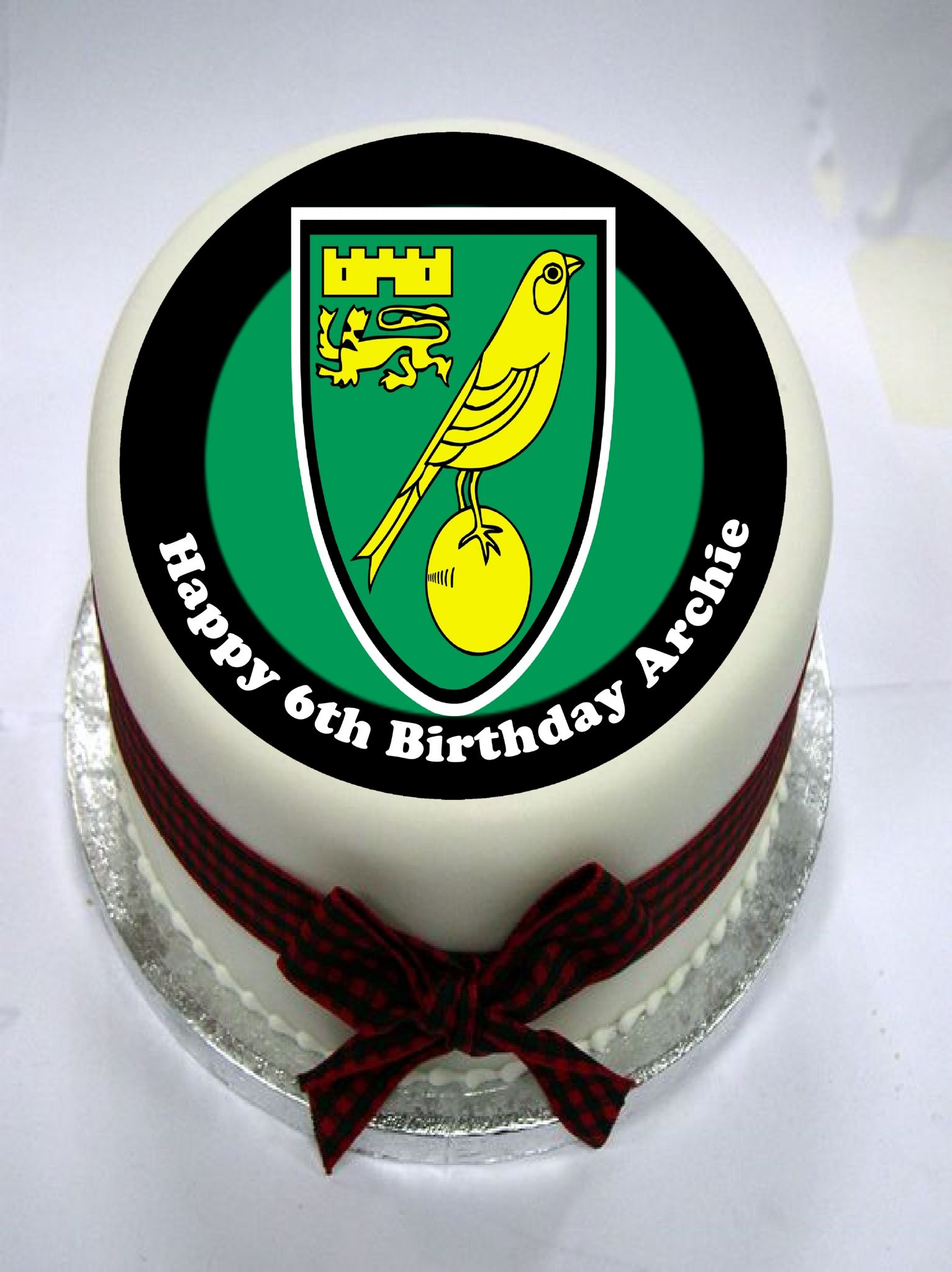 norwich city edible cake topper