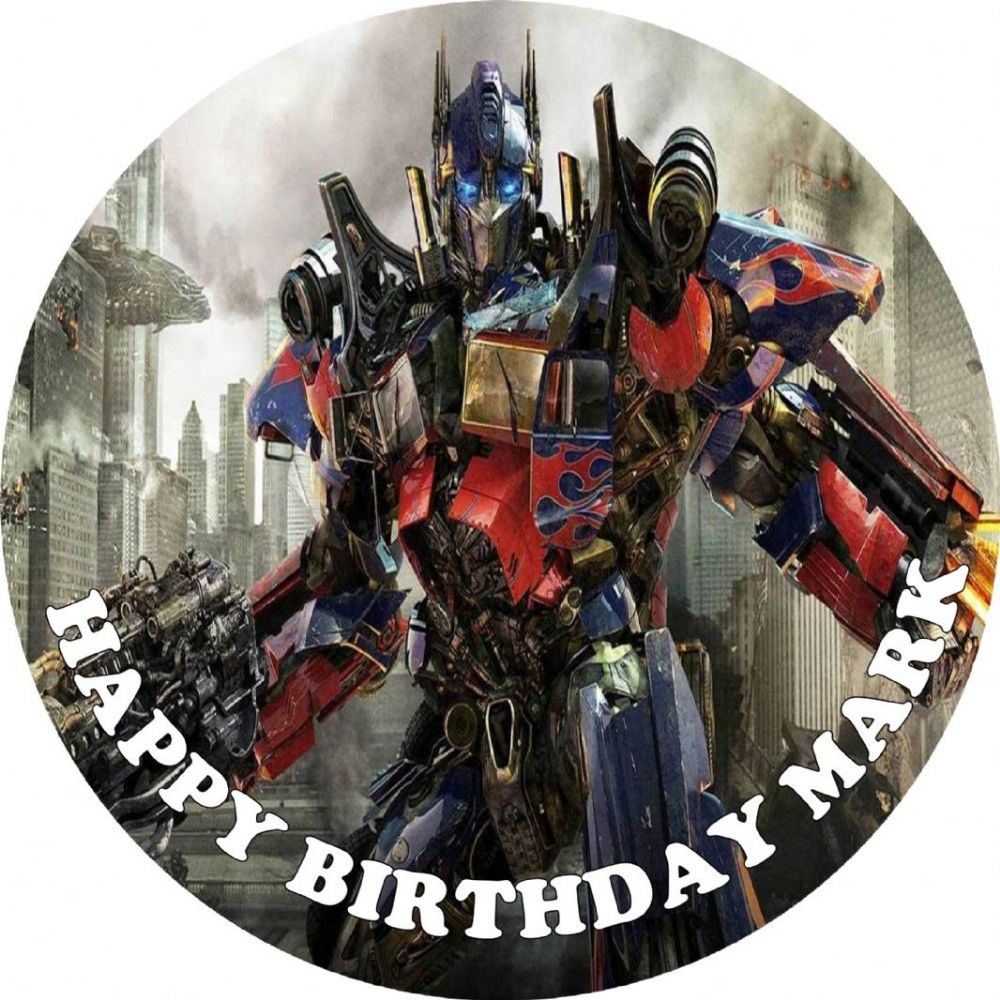 Transformers Cake Decorations Uk : Transformers Edible Cake Topper