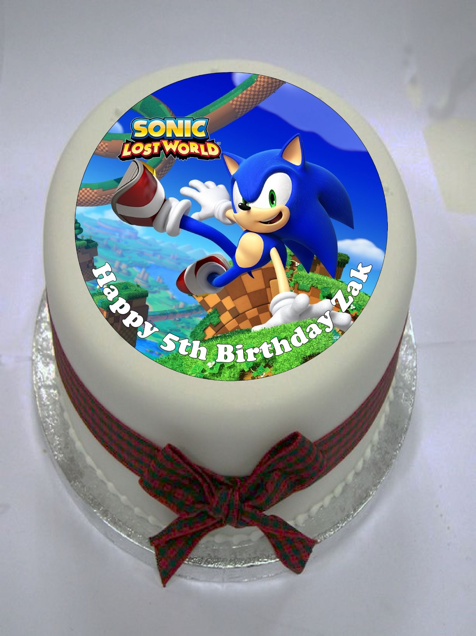 sonic the hedgehog cake topper