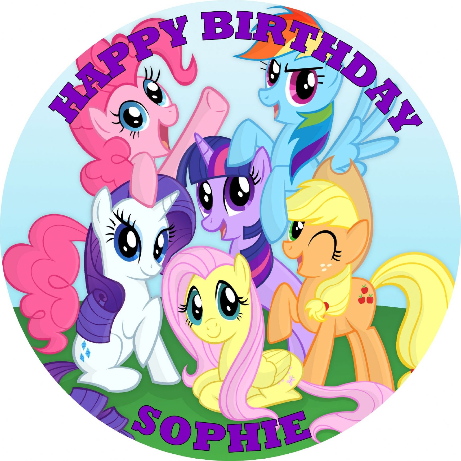 my little pony cake topper custom made edible cake toppers 6078